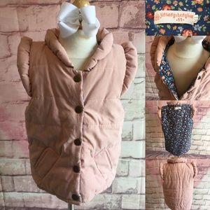5 for $25 girls light pink puffer vest 4T
